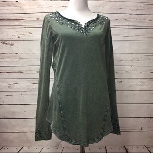 Free People Olive Lou Legacy Henley
